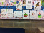 Some of the colourful artwork the girls produced